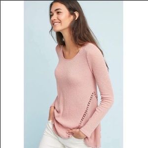 NWT Anthro Erin +Ali Pink Long Sleeve Shirt
